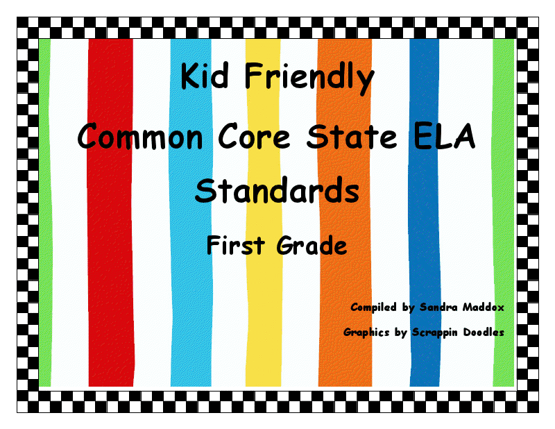 Just Finished The First Grade Set Of Common Core Ela Standards For Printing And Using In A Pocket Chart Or On The Whiteboard