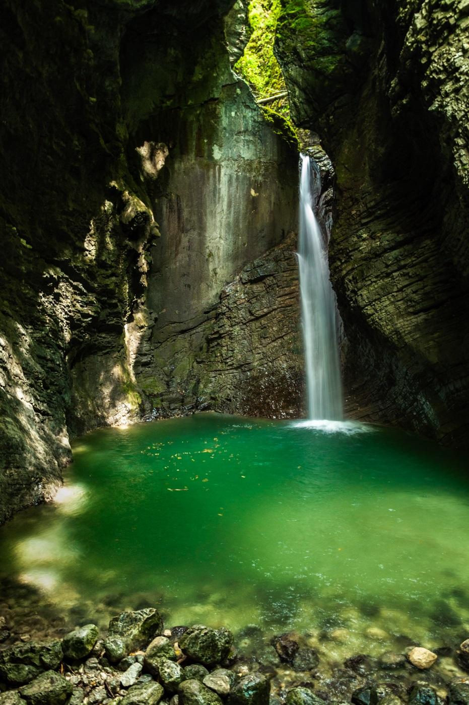 Slap Wodospad Kozjak Słowenia Dolina Soczy