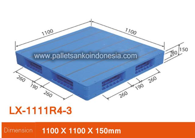 Pallet plastik sanko LX-1111R4-3
