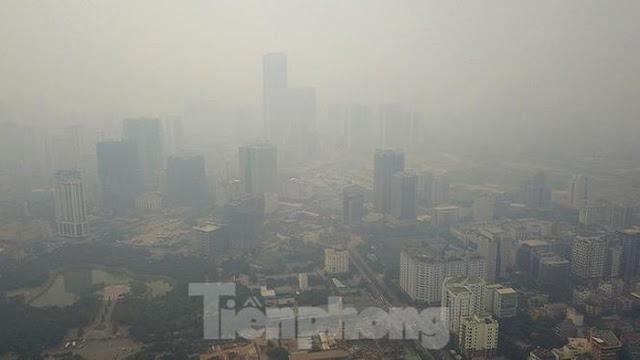 Ô nhiễm không khí ở Hà Nội vọt lên ngưỡng nguy hại, lan rộng