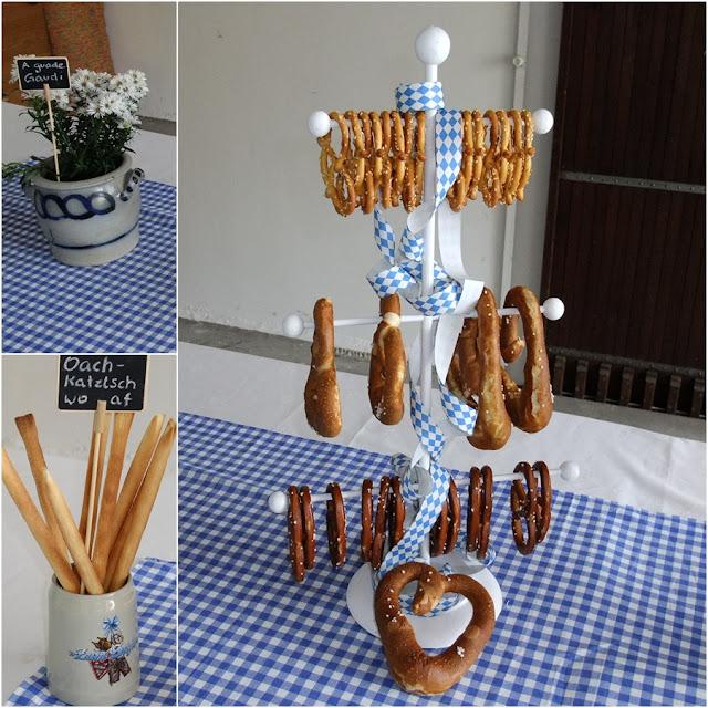 Elkes Bunte Mischung: Blau-Weiße Tischdeko