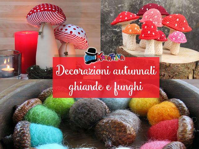 come realizzare delle decorazioni autunnali con ghiande e funghi