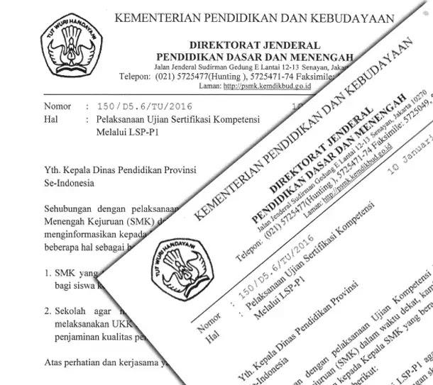 Informasi Pelaksanakan Ujian Sertifikasi Kompetensi SMK Melalui LSP-P1
