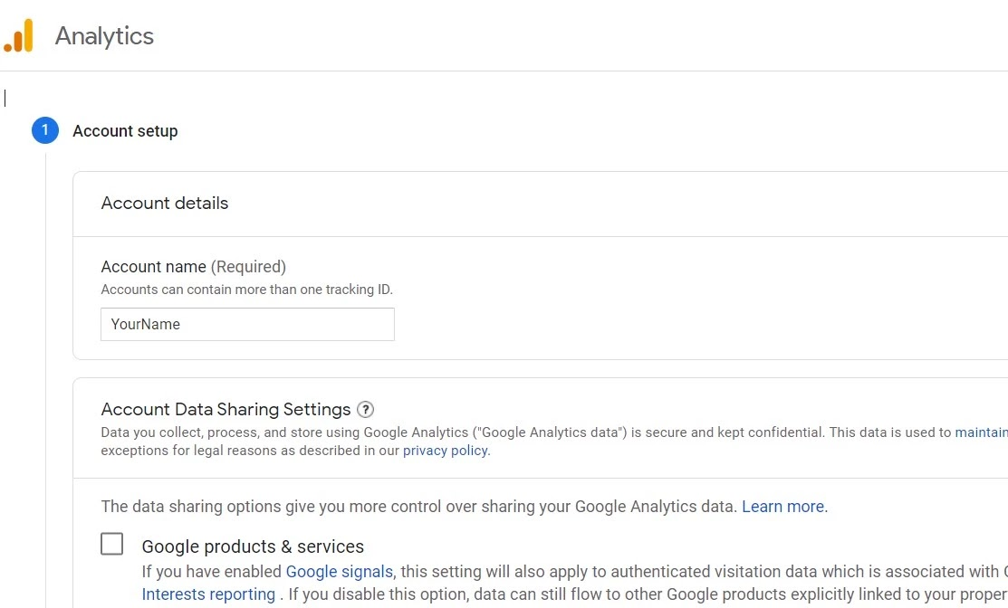 How to Set up Google Analytics account for first time