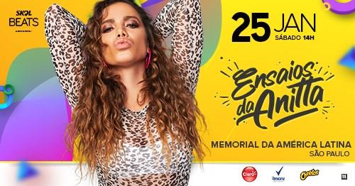 """Anitta comanda o """"Ensaios da Anitta"""" no Feriado do Aniversário de São Paulo"""