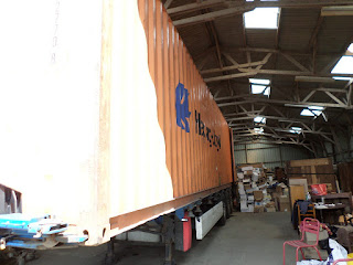 The container is ready to leave to the port of Le Havre