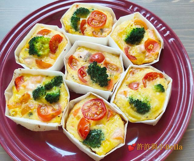 幼兒食譜:雜菜芝士三文魚蛋批
