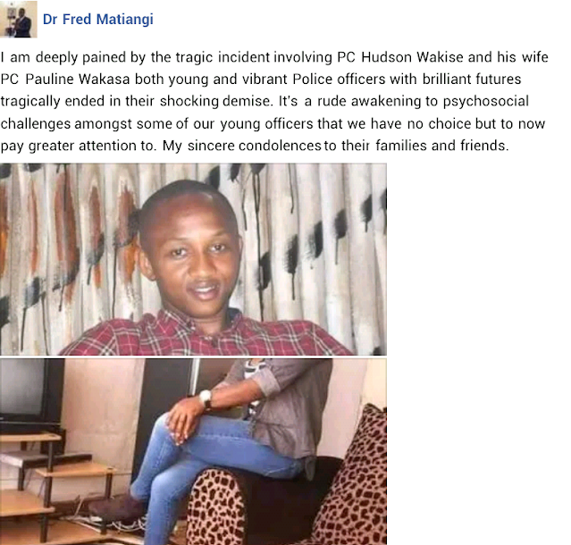 Kenyan police officer kills his wife then shoots himself after she accused him of infidelity