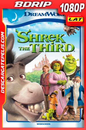 Shrek tercero (2007) FULL HD 1080p BDRip Latino- Ingles
