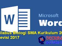 Silabus Biologi SMA Kurikulum 2013 Revisi 2017