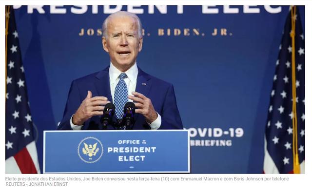 Líderes europeus iniciam discussões com Biden, enquanto Trump segue em negação