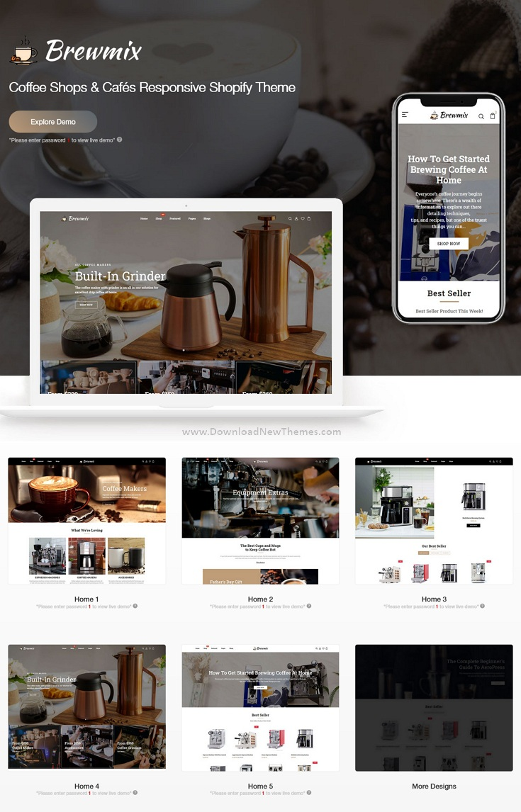 Coffee Shops and Cafés Responsive Shopify Theme