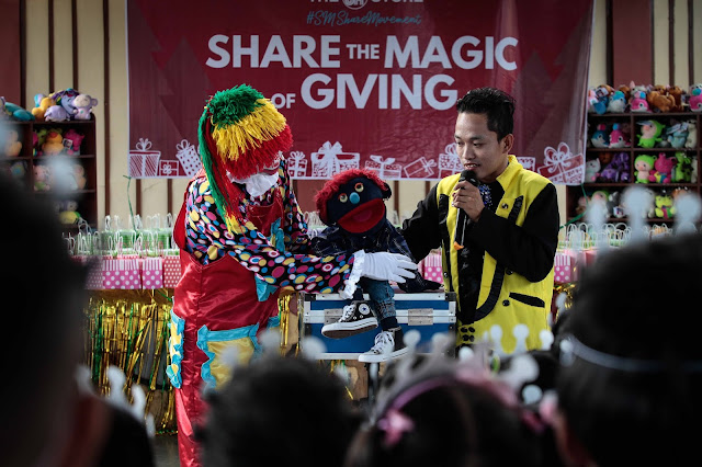 magic show with clown and magician