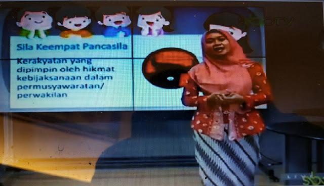 Logo PDIP Jadi Lambang Sila Keempat Saat Belajar Daring, Guru Pemateri Minta Maaf