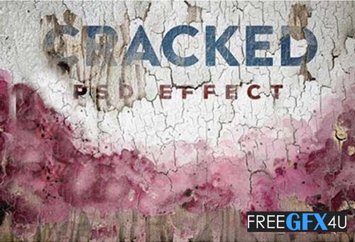 2 Mosaic And Cracked Painted Mockup Effects