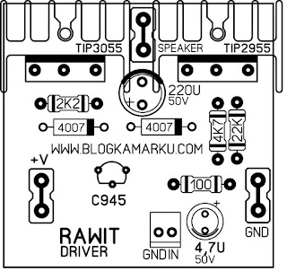 PCB Power amplifier Mungil  Cabe Rawit Driver