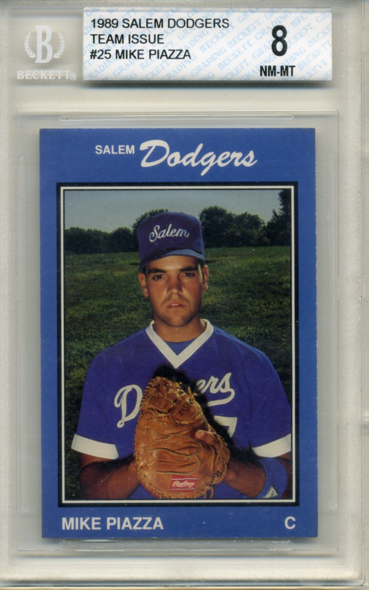 Dodgers Blue Heaven Mike Piazzas Minor League Rookie Card