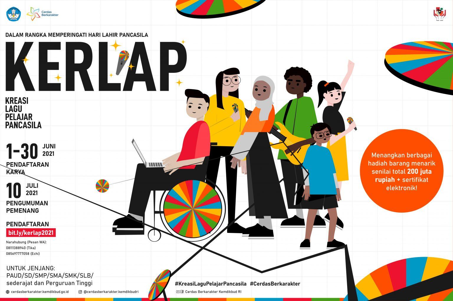 Lomba Kreasi Lagu Pelajar Pancasila oleh Cerdas Berkarakter Kemdikbud Berhadiah Senilai Total 200 Juta Rupiah