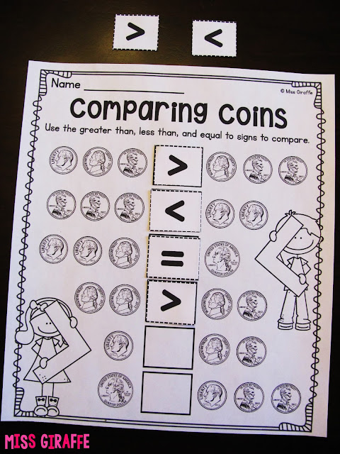 Comparing coin values with greater than less than equal to cut and paste