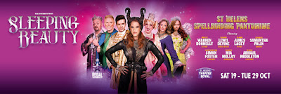 Sleeping Beauty cast and title logo St Helens Theatre Royal