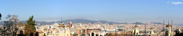Vista panoramica di Barcellona dal Museo d'Arte Nazionale