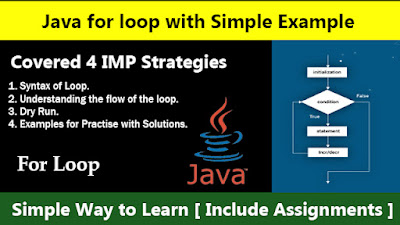 Java For Loop with Simple Example - Simple Way to Learn