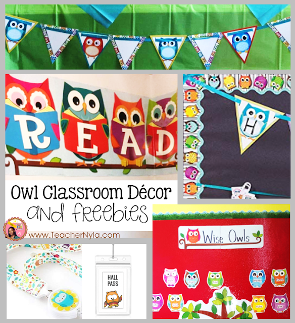 Owl Themed Classroom Decor