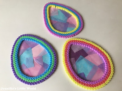 Hama bead Easter egg sun catcher craft