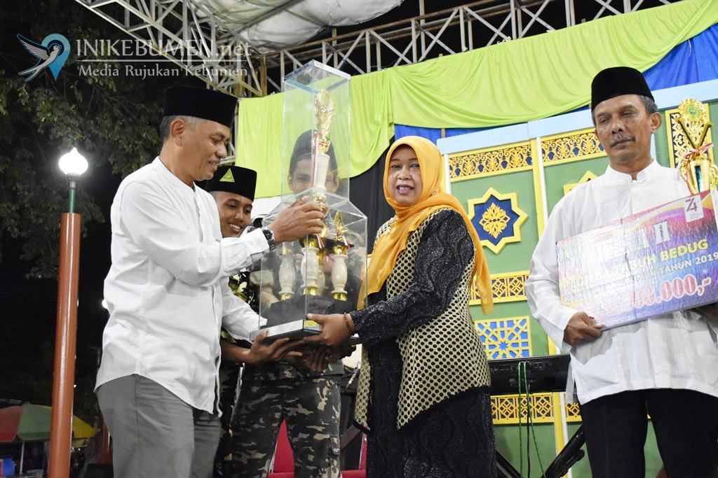 Raih Juara I Lomba Tabuh Bedug, Utusan Kecamatan Pejagoan Bawa Pulang Uang Rp 3 Juta