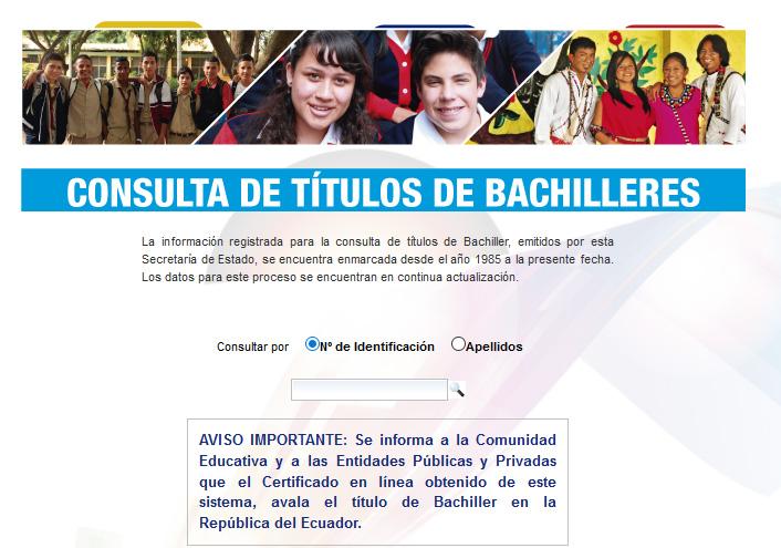 consultar titulo de bachiller en ecuador por internet