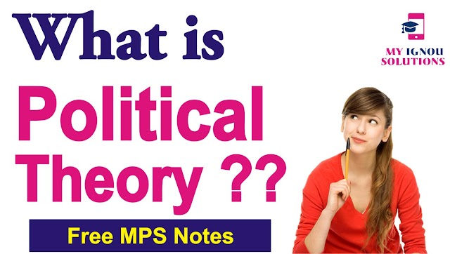 What is Political Theory   Theory and Implications