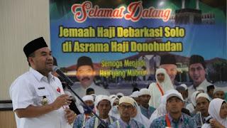 Jamaah Haji Blora Kloter 55, Tiba di Asrama Haji Donohudan