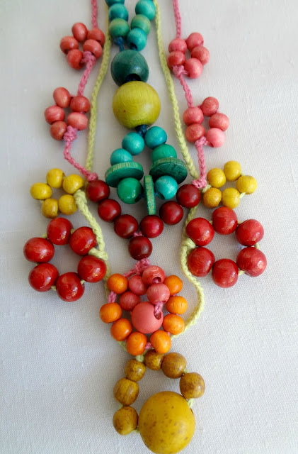 Tie - bead necklaces