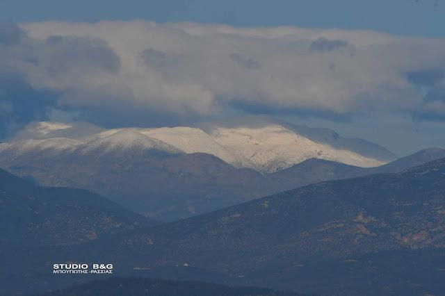 Χιόνια σε Ζήρεια και Μαίναλο