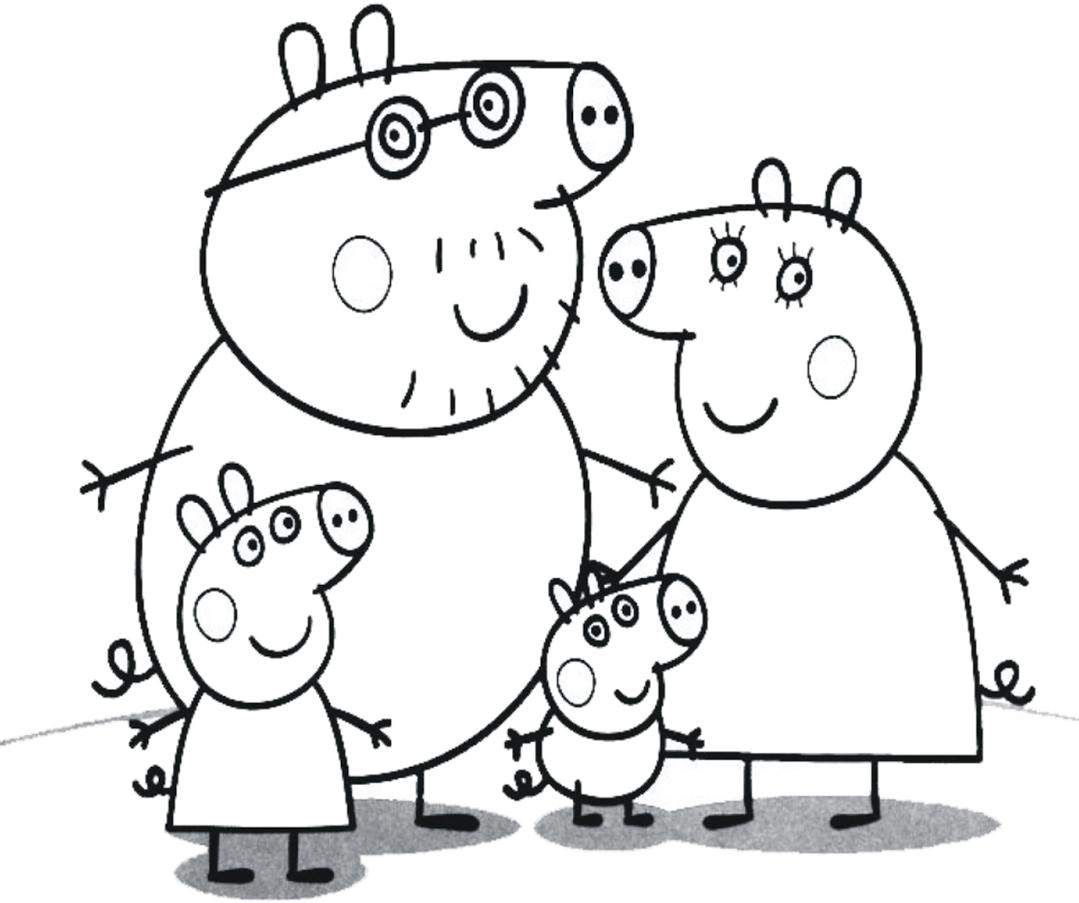 Desenhos Para Colorir E Imprimir Desenhos Peppa Pig Para Colorir