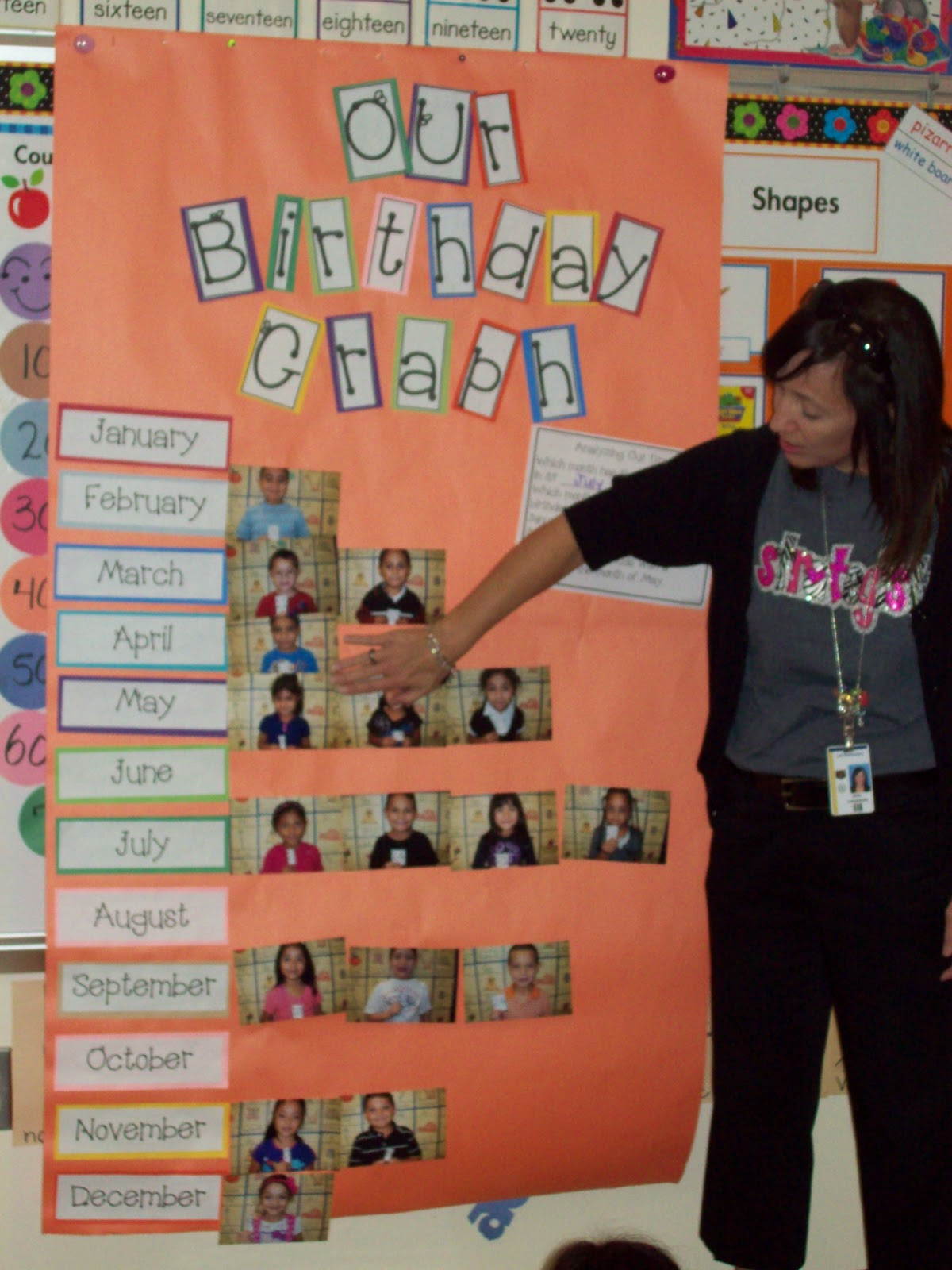 Kindergarten Class: Chalk Talk: A Kindergarten Blog: Our Birthday Graph