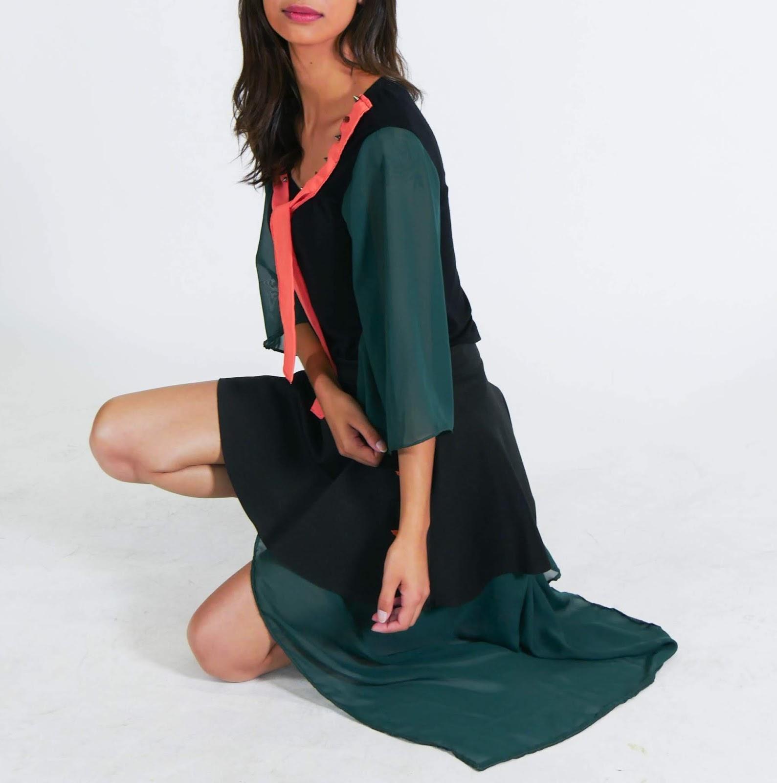 customização blusa e saia em um conjunto