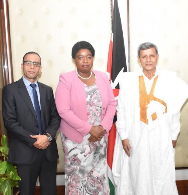 وزير الشؤون الافريقية يُستقبل من طرف وزيرة الخارجية الكينية.