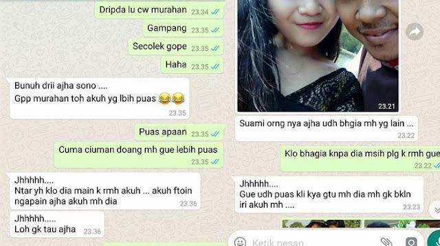 Chat Istri Dengan Pelakor ini Membuat Netizen Geram, Suami Disuruh Pulang Pelakor Malah Kirim Video Mesra