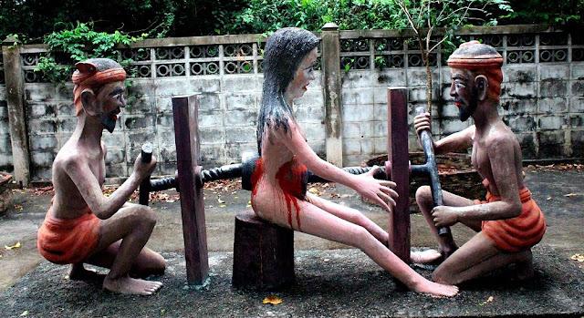 Mengerikan! Taman ini Tunjukkan Kejamnya Siksa Neraka