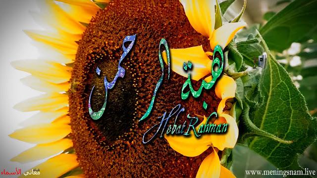 معنى اسم هبة الرحمن وصفات حاملة و حامل هذا الاسم Hibat Rahman