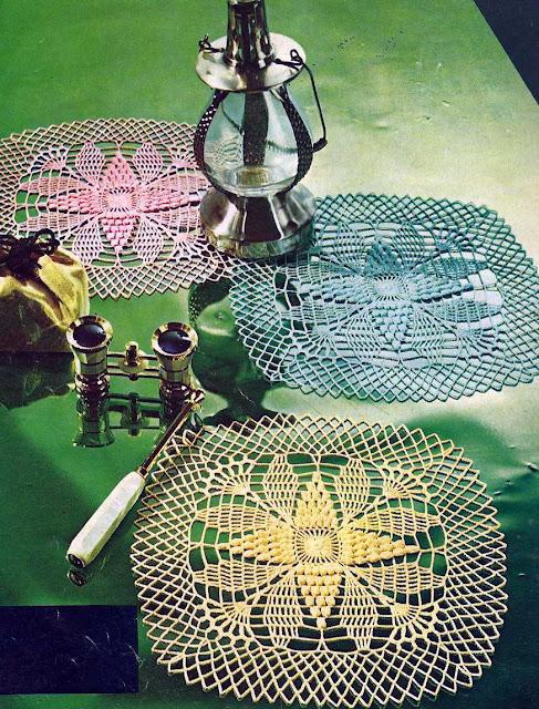 Patrón 999 Trío de Tapetes a Crochet