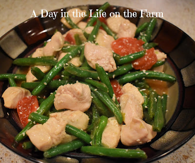 Stir Fry Chicken with Blistered Green Beans