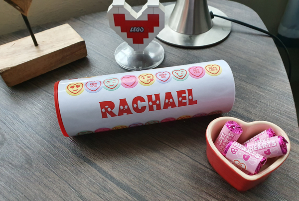 Personalized Love Heart Sweets