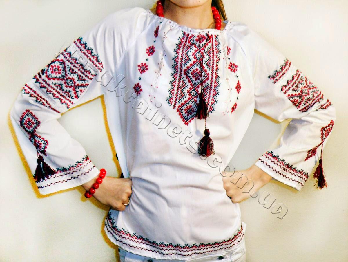 Украинская сорочка-вышиванка пример