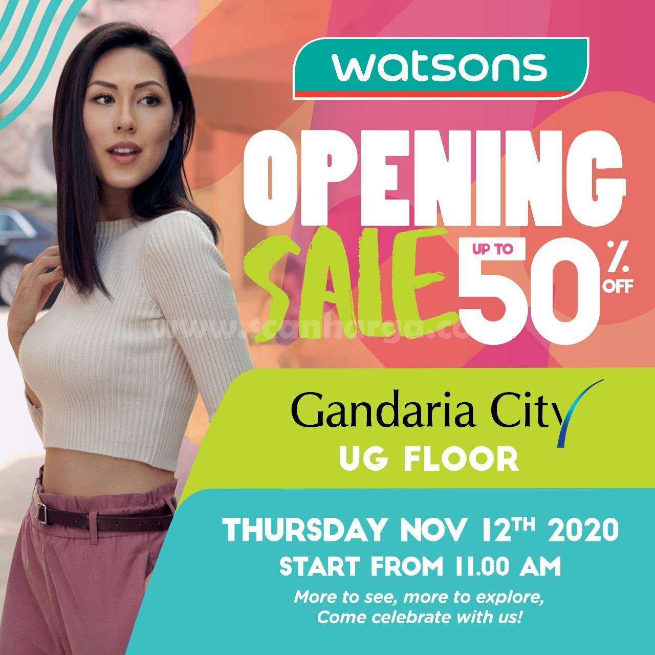 Watsons Gandaria City: Promo Opening Sale up to 50% off*