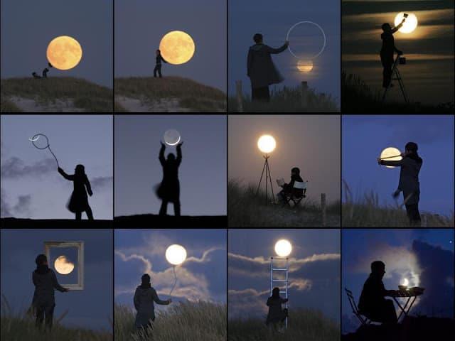 O fascínio da Lua - As diversas fases da Lua