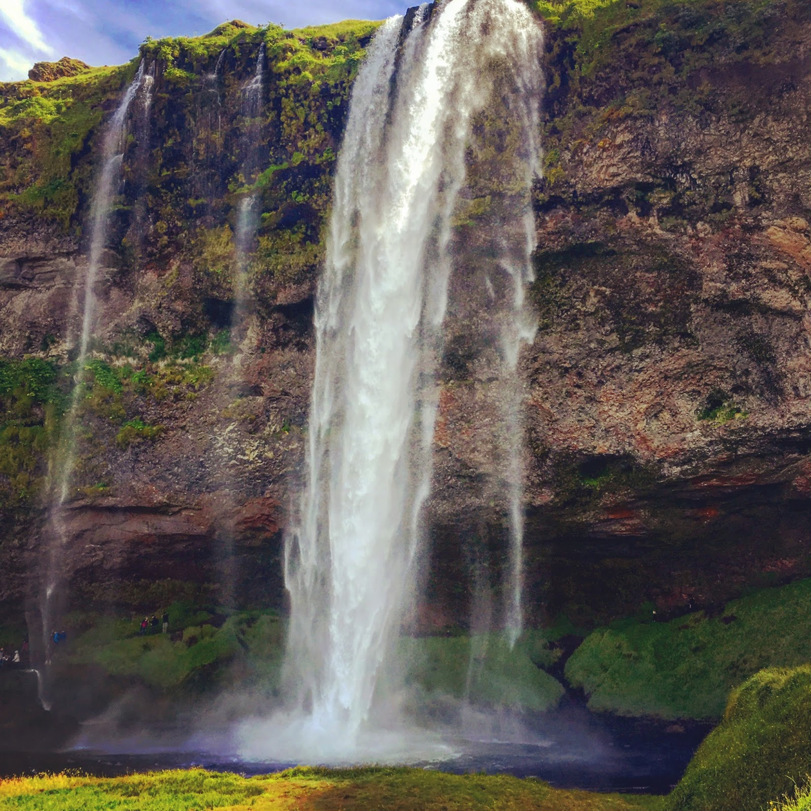 Seljalandsfoss waterfall, south coast, Iceland