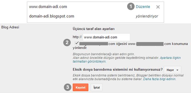 Blogger www Yönlendirme Sorunu