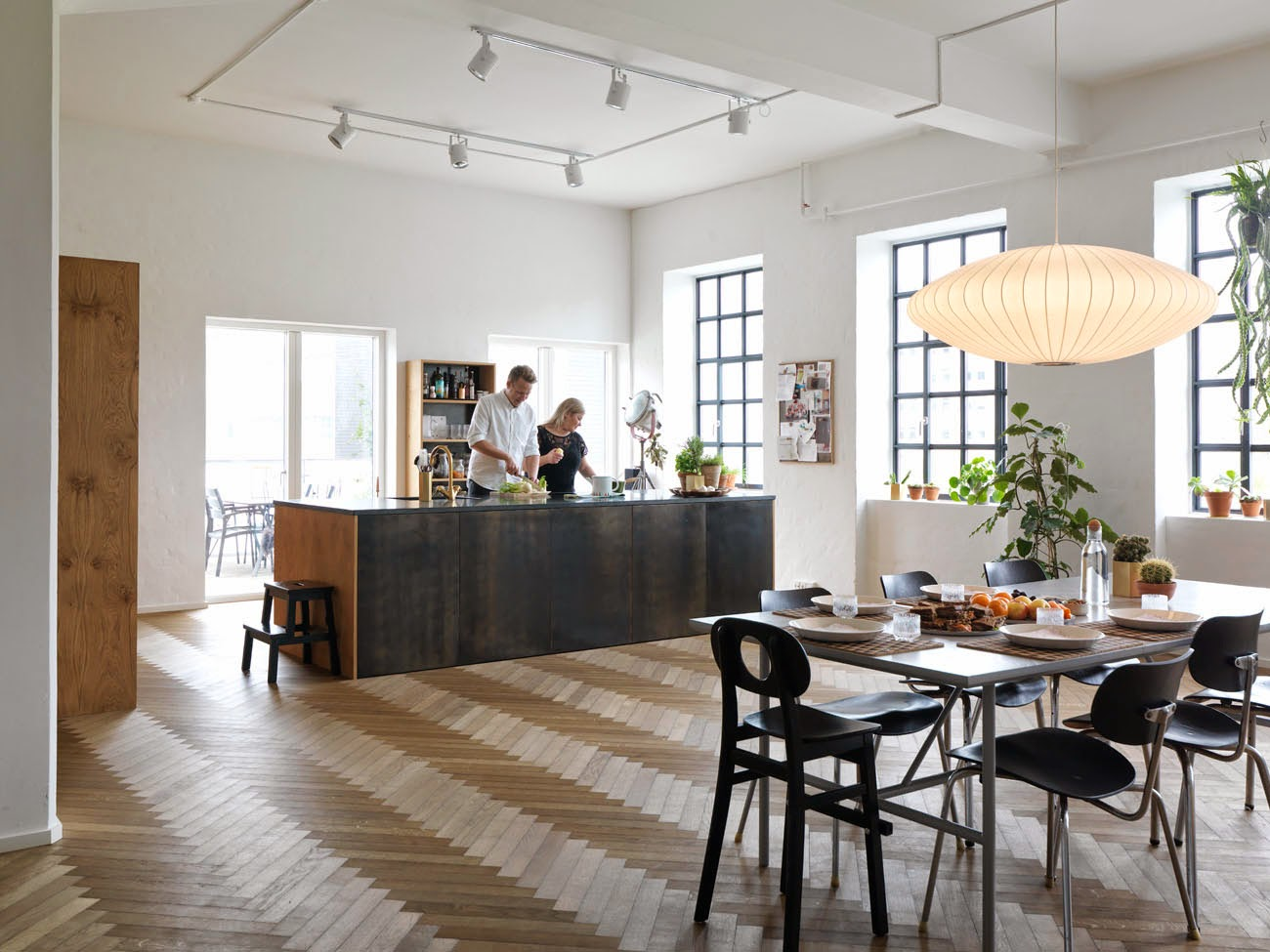 Vert poussin for Open space moderni